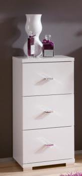 bad unterschrank weiss hochglanz 3 schubl den. Black Bedroom Furniture Sets. Home Design Ideas