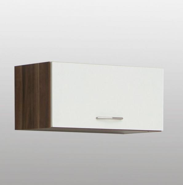 h ngeschrank walnuss weiss mit einer kippt r. Black Bedroom Furniture Sets. Home Design Ideas