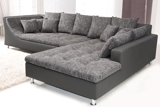 u wohnlandschaft sofa couch wohnzimmer strukturstoff leder moderne sofakollektionen. Black Bedroom Furniture Sets. Home Design Ideas