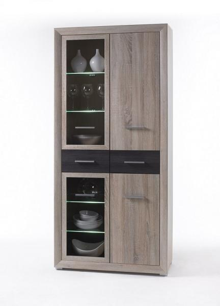 vitrine sonoma eiche interessante ideen f r. Black Bedroom Furniture Sets. Home Design Ideas