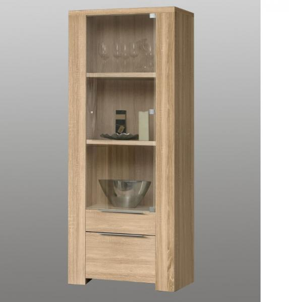 lakeview vitrine sonoma eiche bht 71 186 50 vitrine eiche sonoma massiv. Black Bedroom Furniture Sets. Home Design Ideas